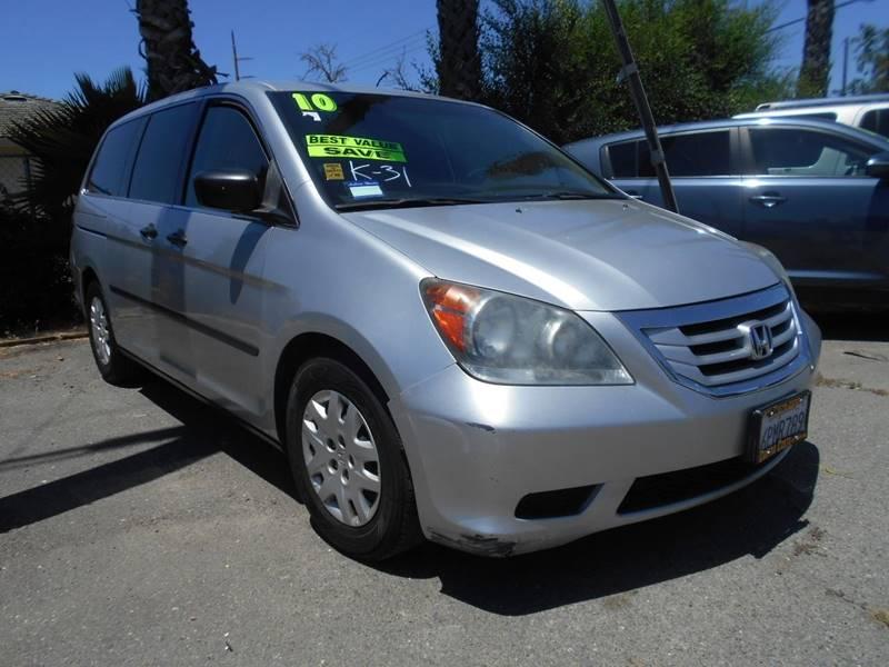 2010 HONDA ODYSSEY LX 4DR MINI VAN silver rear spoiler - roofline front bumper color - body-colo