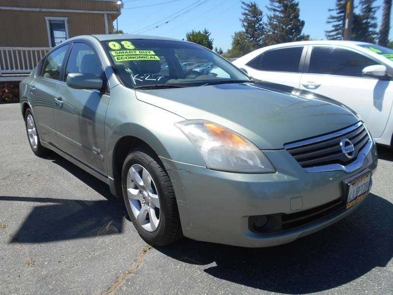 2008 NISSAN ALTIMA HYBRID BASE 4DR SEDAN gold exhaust - dual tip mudguards - front body side mo