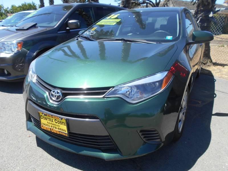 2016 TOYOTA COROLLA LE 4DR SEDAN green door handle color - body-color front bumper color - body-