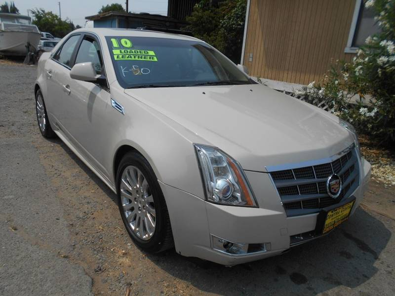 2010 CADILLAC CTS 36L V6 PREMIUM 4DR SEDAN white exhaust - dual tip exhaust tip color - chrome