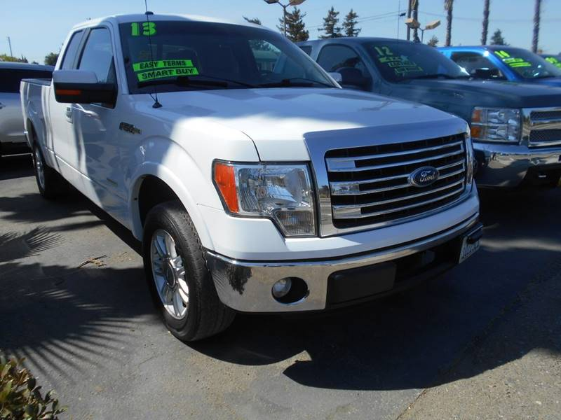 2013 FORD F-150 XLT 4X2 4DR SUPERCAB STYLESIDE 6 white pickup bed light pickup bed type - styles