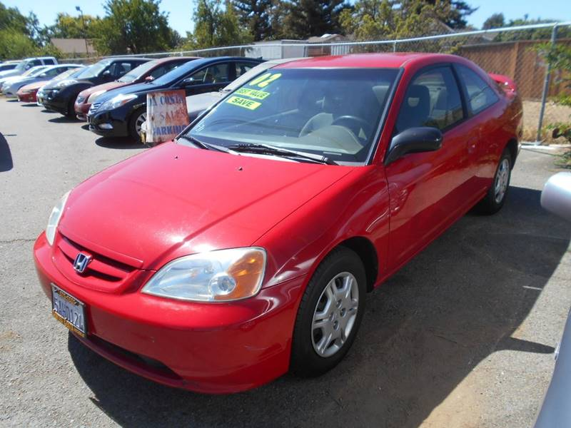 2002 HONDA CIVIC LX 2DR COUPE red front air conditioning cruise control power steering steerin