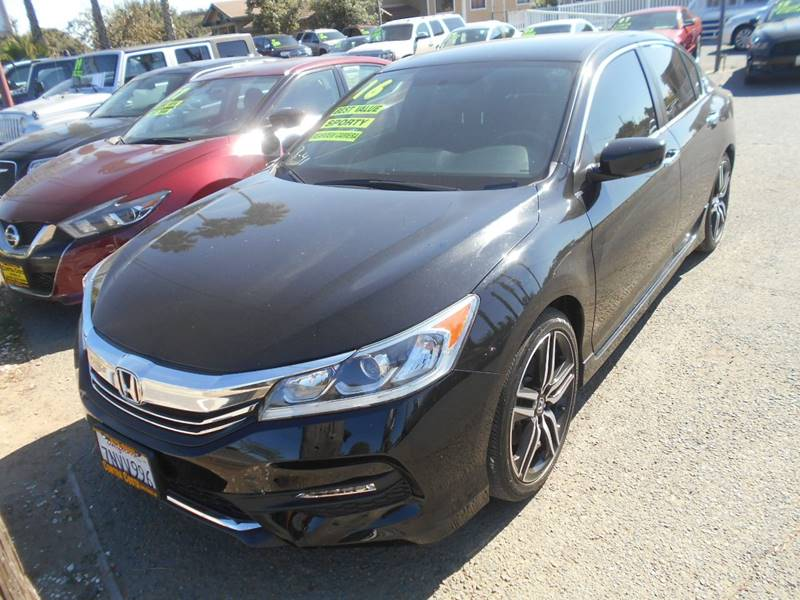 2016 HONDA ACCORD SPORT 4DR SEDAN CVT black exhaust - dual tip rear spoiler - decklid door hand