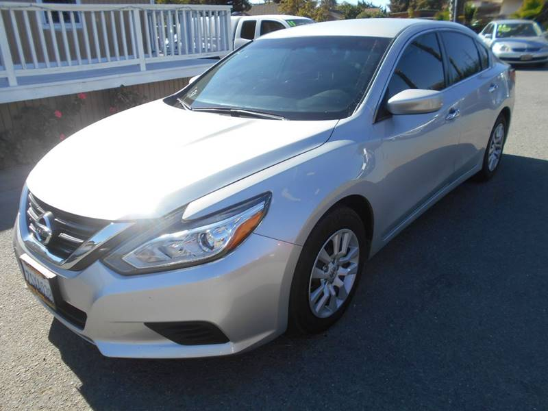 2016 NISSAN ALTIMA 25 4DR SEDAN silver exhaust - dual tip active grille shutters door handle c