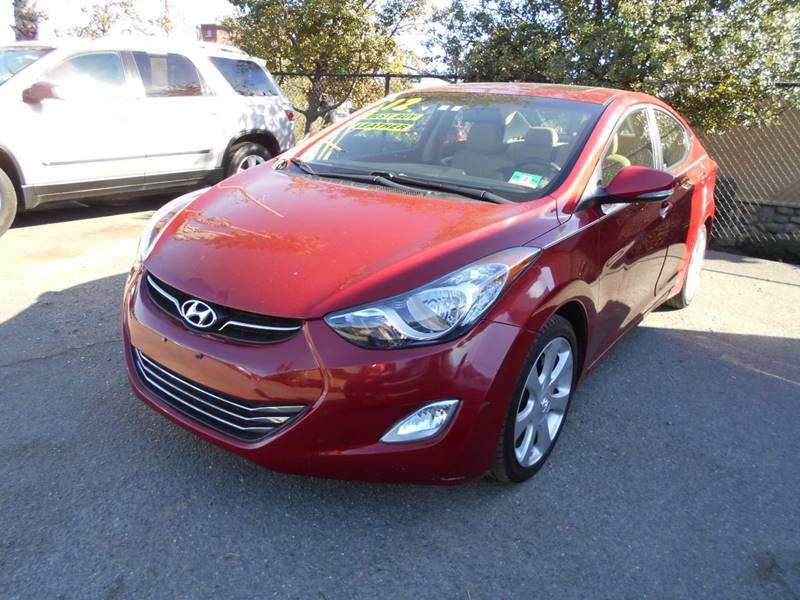 2012 HYUNDAI ELANTRA LIMITED 4DR SEDAN red front bumper color - body-color grille color - black