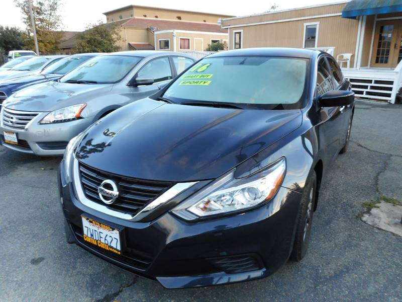 2016 NISSAN ALTIMA 25 S 4DR SEDAN black exhaust - dual tip active grille shutters door handle
