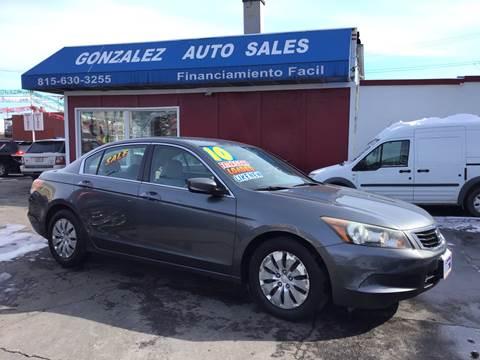 2010 Honda Accord for sale at Gonzalez Auto Sales in Joliet IL