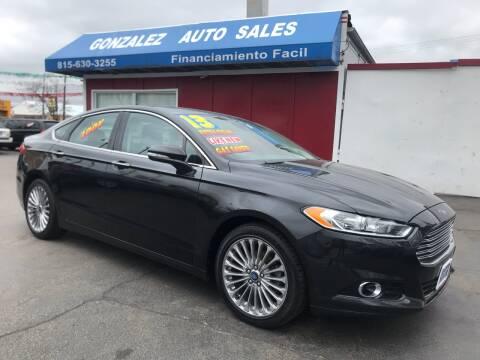 2013 Ford Fusion for sale at Gonzalez Auto Sales in Joliet IL