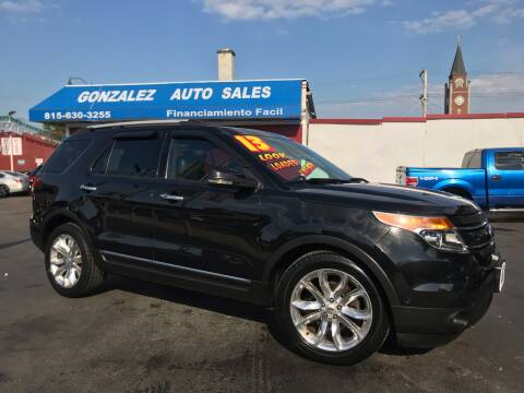 2013 Ford Explorer for sale at Gonzalez Auto Sales in Joliet IL