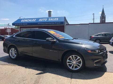 2018 Chevrolet Malibu for sale at Gonzalez Auto Sales in Joliet IL