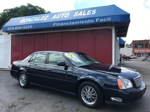 2002 Cadillac DeVille for sale at Gonzalez Auto Sales in Joliet IL
