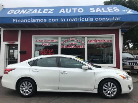 2014 Nissan Altima for sale at Gonzalez Auto Sales in Joliet IL