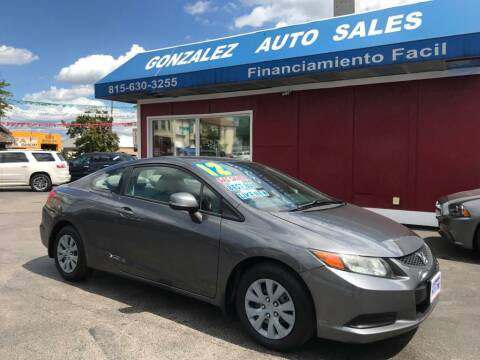 2012 Honda Civic for sale at Gonzalez Auto Sales in Joliet IL