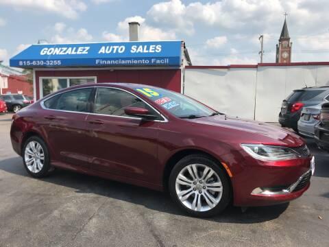 2015 Chrysler 200 for sale at Gonzalez Auto Sales in Joliet IL