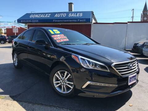 2015 Hyundai Sonata for sale at Gonzalez Auto Sales in Joliet IL