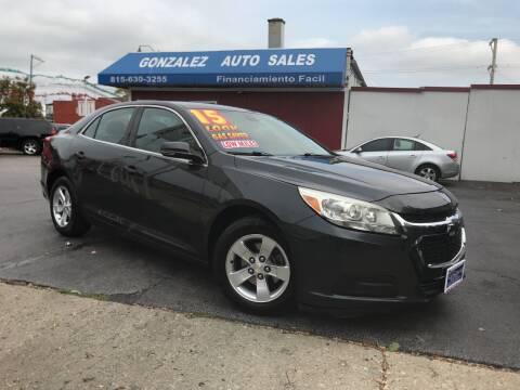 2015 Chevrolet Malibu for sale at Gonzalez Auto Sales in Joliet IL