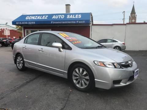 2011 Honda Civic for sale at Gonzalez Auto Sales in Joliet IL