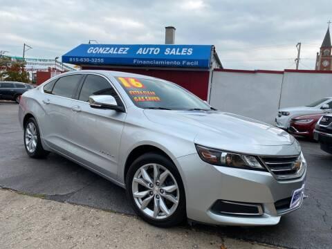 2016 Chevrolet Impala for sale at Gonzalez Auto Sales in Joliet IL