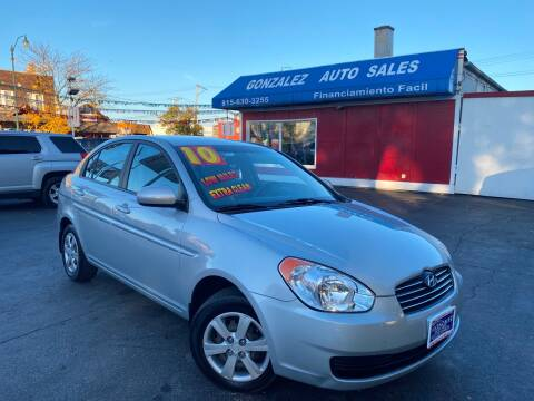 2010 Hyundai Accent for sale at Gonzalez Auto Sales in Joliet IL