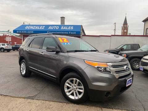 2012 Ford Explorer for sale at Gonzalez Auto Sales in Joliet IL