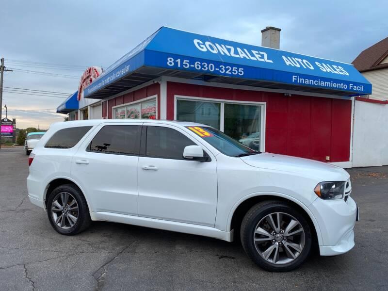 2013 Dodge Durango for sale at Gonzalez Auto Sales in Joliet IL