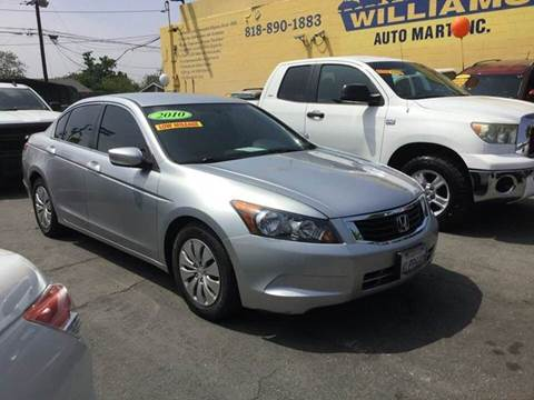 2010 Honda Accord for sale at Williams Auto Mart Inc in Pacoima CA