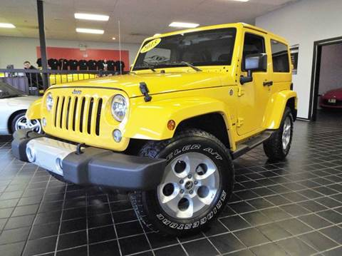 2015 Jeep Wrangler for sale at SAINT CHARLES MOTORCARS in Saint Charles IL