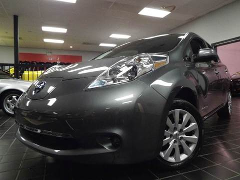 2015 Nissan LEAF for sale at SAINT CHARLES MOTORCARS in Saint Charles IL