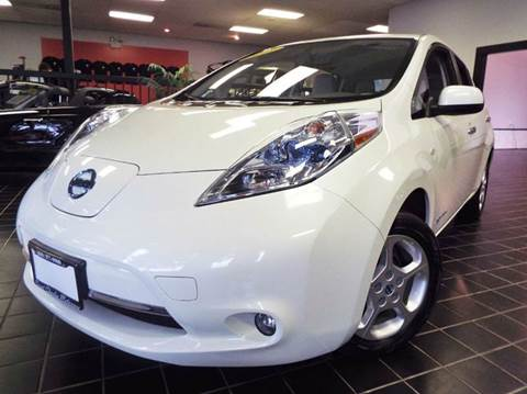 2014 Nissan LEAF for sale at SAINT CHARLES MOTORCARS in Saint Charles IL