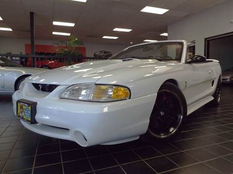 1998 Ford Mustang SVT Cobra for sale at SAINT CHARLES MOTORCARS in Saint Charles IL