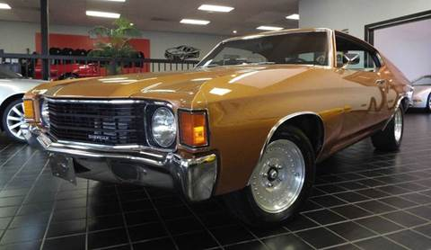 1972 Chevrolet Chevelle for sale at SAINT CHARLES MOTORCARS in Saint Charles IL