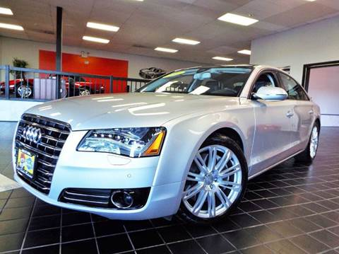 2011 Audi A8 L for sale at SAINT CHARLES MOTORCARS in Saint Charles IL