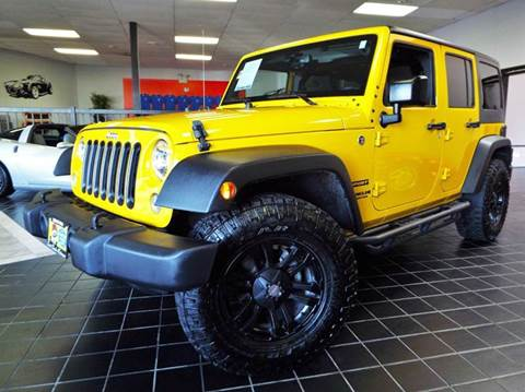 2015 Jeep Wrangler Unlimited for sale at SAINT CHARLES MOTORCARS in Saint Charles IL