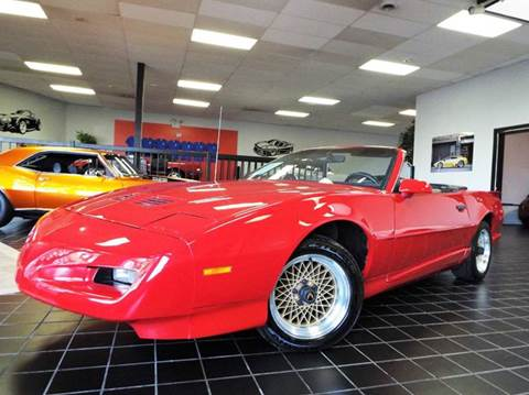 1991 Pontiac Firebird for sale at SAINT CHARLES MOTORCARS in Saint Charles IL