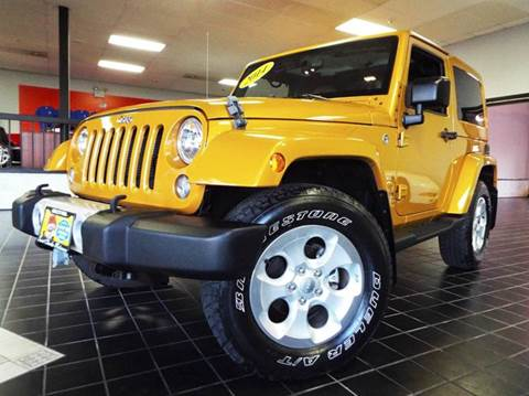 2014 Jeep Wrangler for sale at SAINT CHARLES MOTORCARS in Saint Charles IL