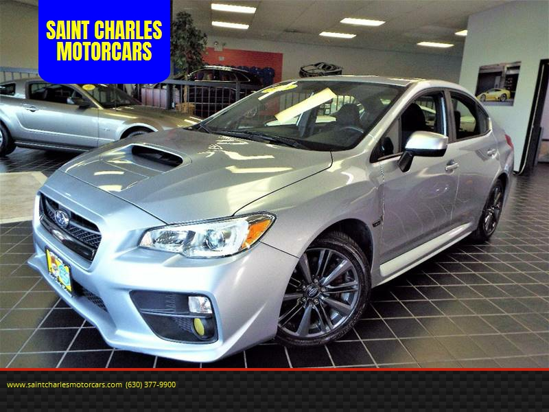 2015 Subaru WRX for sale at SAINT CHARLES MOTORCARS in Saint Charles IL