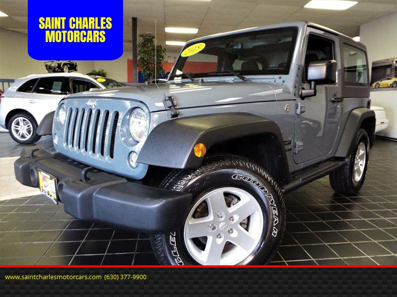Awesome 2015 Jeep Wrangler 4x4 Sport 2dr SUV   Saint Charles IL