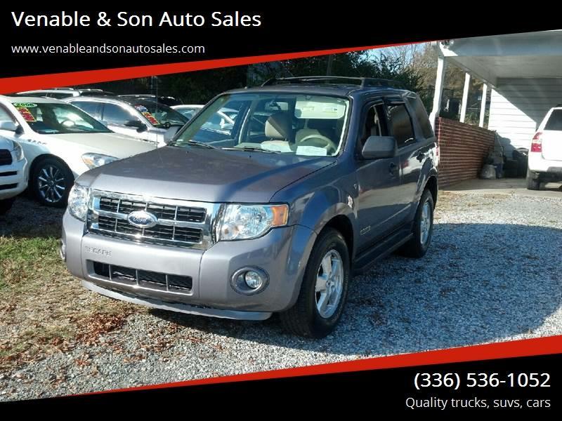 2008 Ford Escape for sale at Venable & Son Auto Sales in Walnut Cove NC