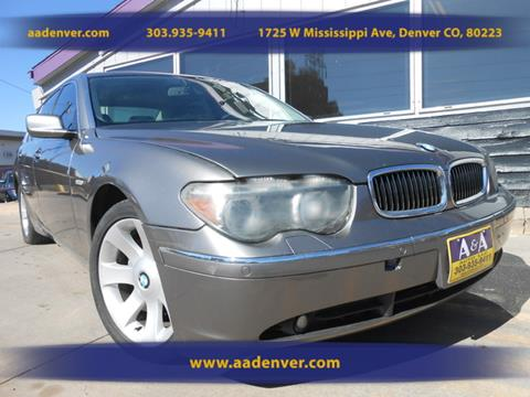 2002 BMW 7 Series for sale in Denver, CO