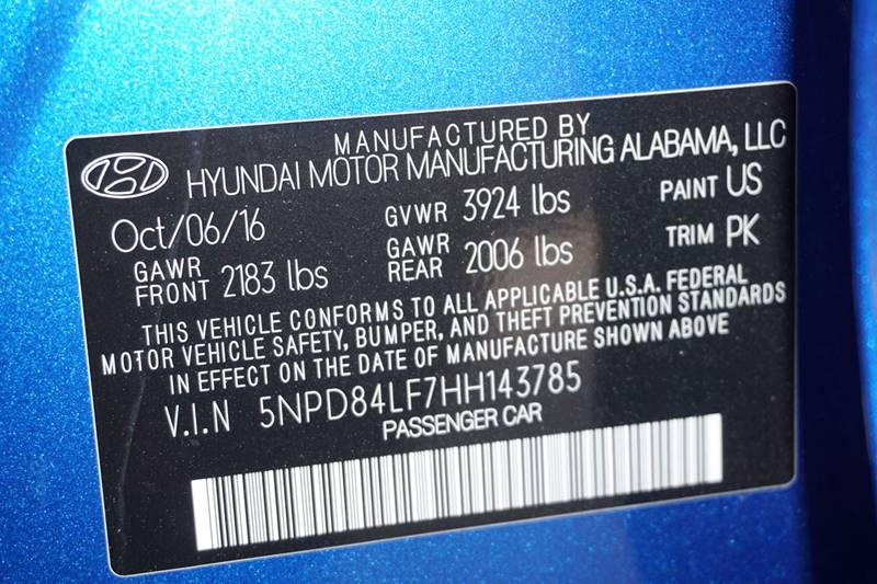 2017 Hyundai Elantra SE 4dr Sedan PZEV (US) - Hollywood FL