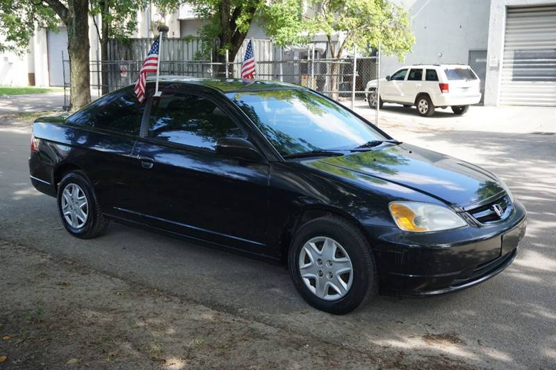 2003 HONDA CIVIC LX 2DR COUPE black  call 888-218-8442 - 888-218-8442 for sales  this 2003