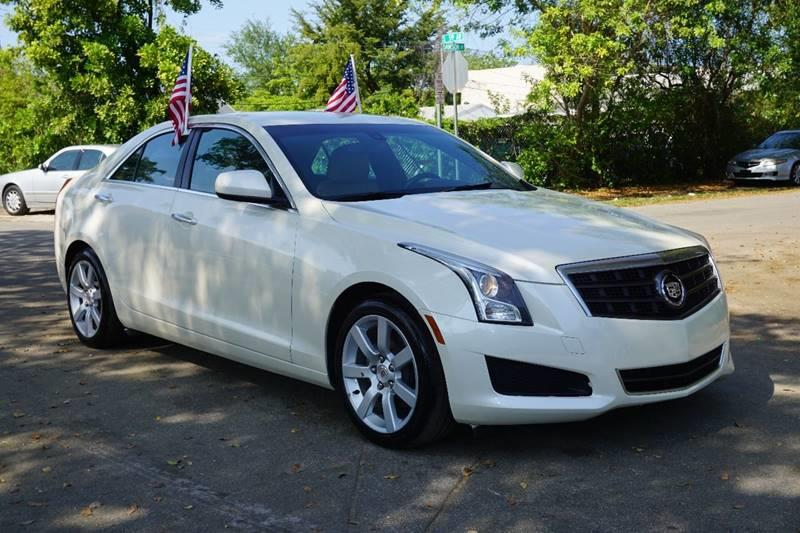 2013 CADILLAC ATS 25L 4DR SEDAN white  call 888-218-8442 - 888-218-8442 for sales  this 20