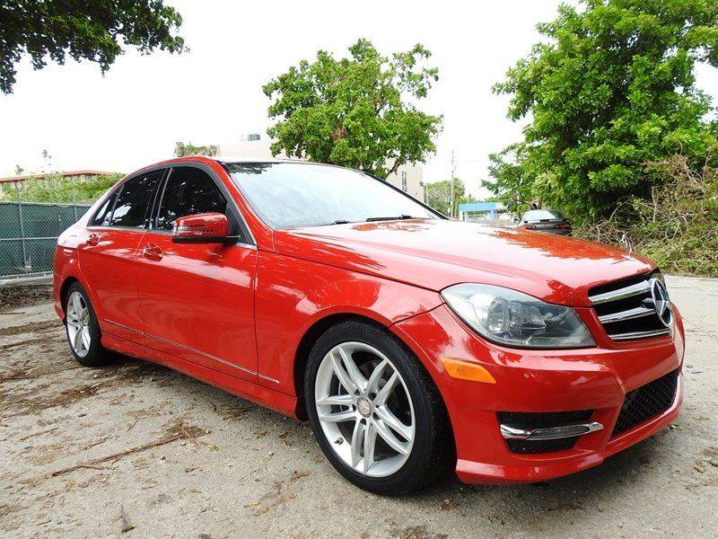 2014 MERCEDES-BENZ C-CLASS C 250 SPORT 4DR SEDAN red  call 888-218-8442 for sales  this 201