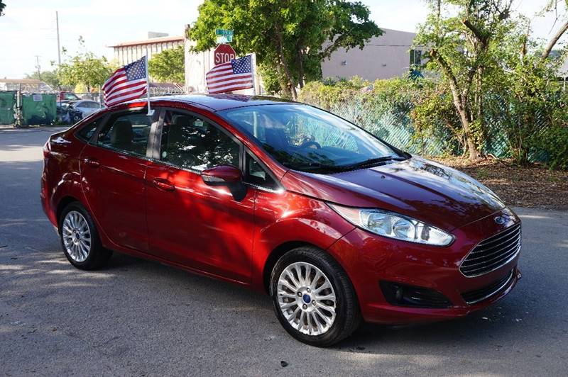 2015 FORD FIESTA TITANIUM 4DR SEDAN burgundy  call 888-218-8442 for sales  this 2015 ford f