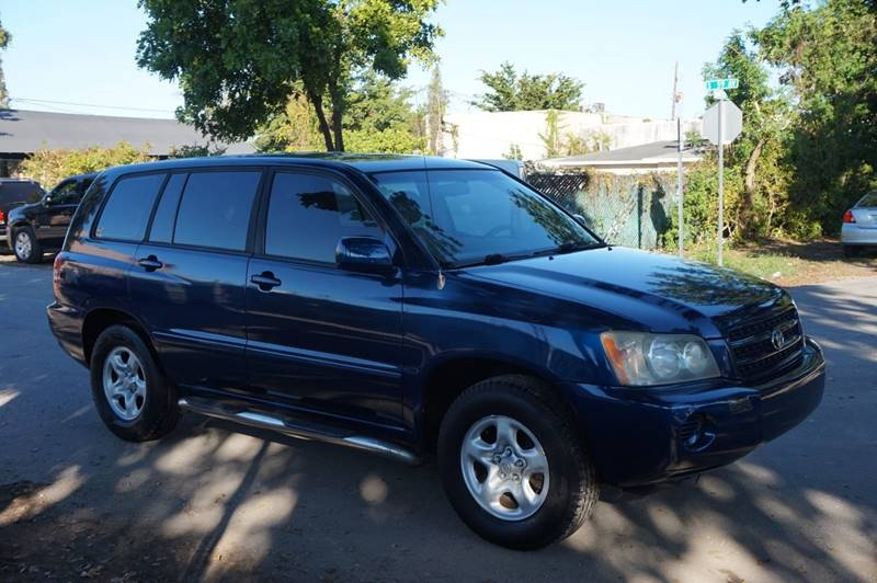 2002 TOYOTA HIGHLANDER BASE 2WD 4DR SUV V6 blue  call 888-218-8442 for sales  this 2002 toy