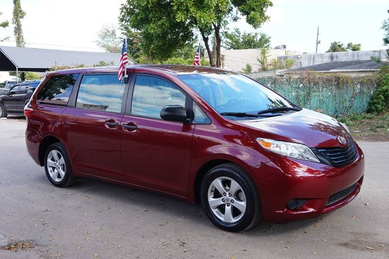 2016 TOYOTA SIENNA L 7 PASSENGER 4DR MINI VAN burgundy  call 888-218-8442 for sales  this 2