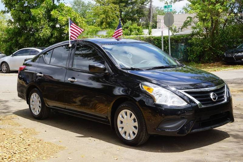 2017 NISSAN VERSA 16 SV 4DR SEDAN black  call 888-218-8442 for sales  this 2017 nissan ver