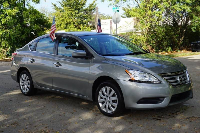 2014 NISSAN SENTRA SV 4DR SEDAN gray  call 888-218-8442 for sales   certified gwc warranty