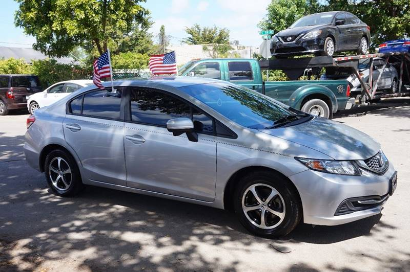 2015 HONDA CIVIC SE 4DR SEDAN silver  call 888-218-8442 for sales   vehicle price includes