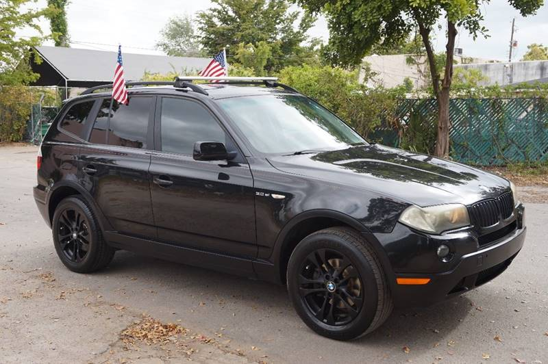 2008 BMW X3 30SI AWD 4DR SUV black  call 888-218-8442 for sales   vehicle price includes w